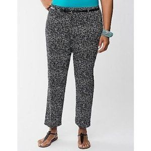 Lane Bryant Printed Sateen Cuffed Ankle Pants 22